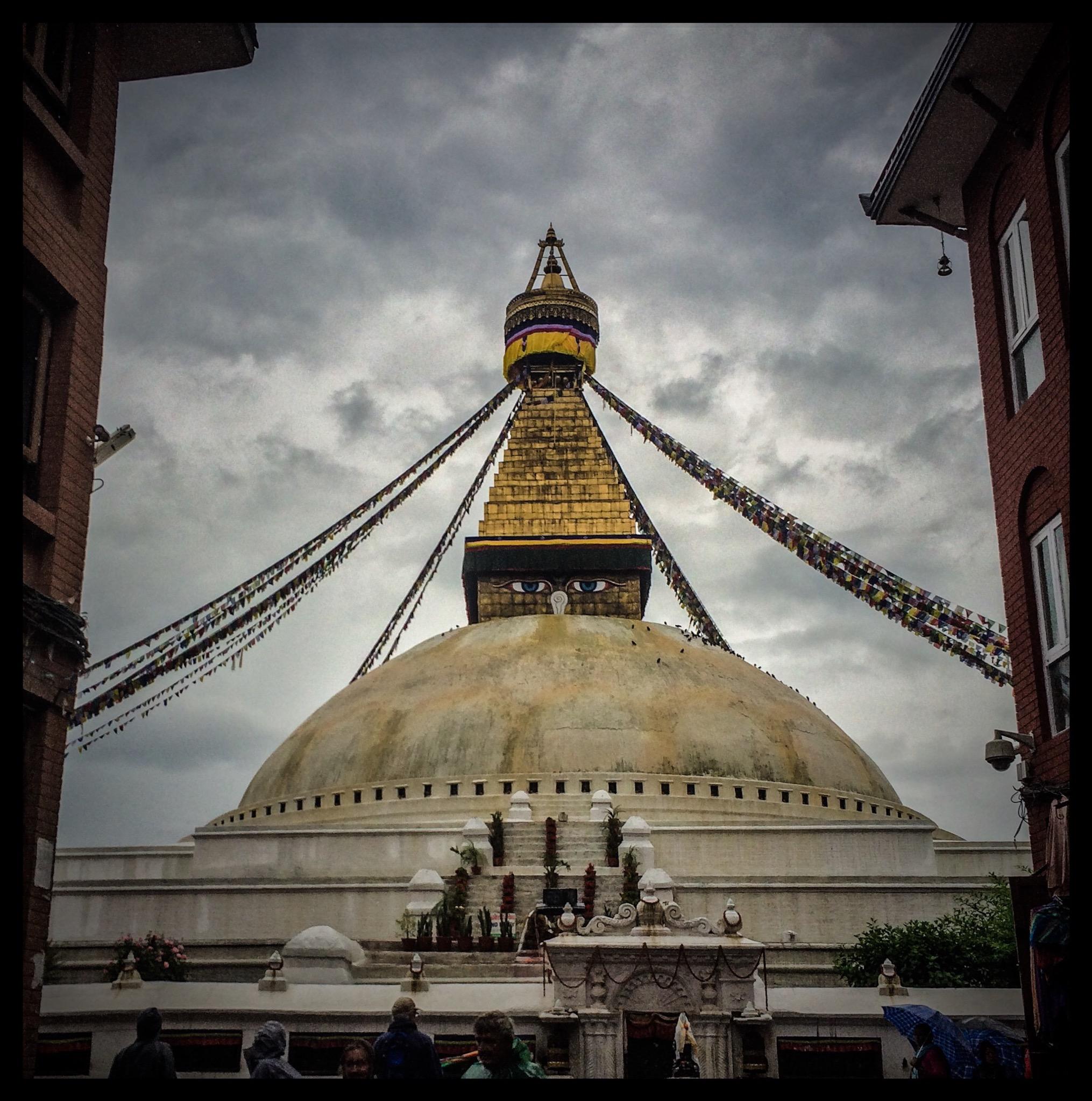 Visiting Boudha Stupa…..